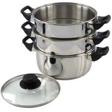 Pendeford Stainless Steel Collection 3 Tier Steamer - 20cm